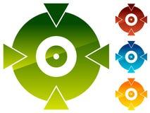 Перекрестие, форма метки цели для прицельного, яблочко и alignmen иллюстрация штока