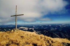 перекрестная верхняя часть горы maramures Стоковые Изображения RF