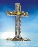 перекрестная каменная шпага Стоковая Фотография RF