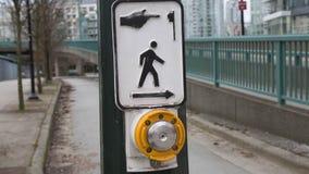 Перекрестная кнопка прогулки отсутствие людей Стоковые Изображения RF