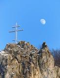 перекрестная луна Стоковые Фотографии RF
