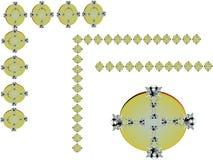 перекрестная плита утюга золота Стоковые Изображения RF