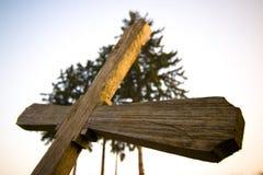 перекрестное деревянное Стоковые Фото