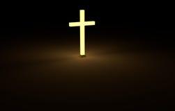 перекрестное зарево в темноте Стоковые Фото
