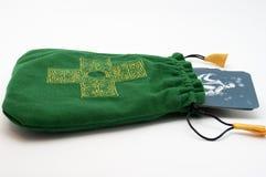перекрестное зеленое tarot мешка пакета Стоковые Фотографии RF