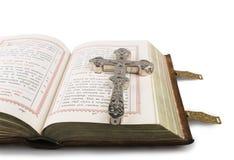 Перекрестное и открытое Евангелие Стоковая Фотография
