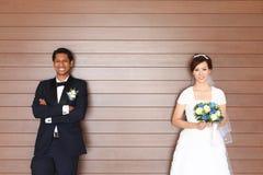 Межрасовое венчание Стоковая Фотография RF