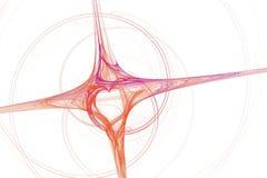 перекрестное сердце фрактали стоковое изображение rf