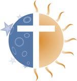 перекрестное солнце луны Стоковая Фотография RF