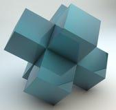 Перекрестные кубики Стоковая Фотография