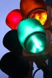 Перекрестные света в угле улицы Стоковая Фотография
