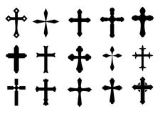 перекрестные символы иллюстрация вектора