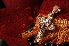 перекрестные ювелирные изделия диамантов Стоковая Фотография RF