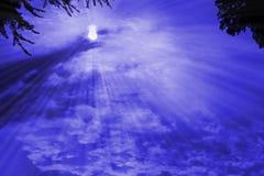 перекрестный заход солнца Стоковое Фото