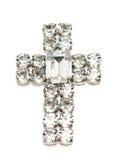 перекрестный изолированный диамант Стоковое Изображение