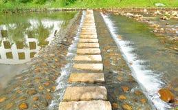 перекрестный каменный путь потока Стоковое фото RF