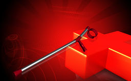 перекрестный красный цвет костыля Иллюстрация штока