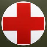 перекрестный красный цвет логоса жизни Стоковые Фото