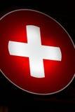 перекрестный красный цвет ночи Стоковое фото RF