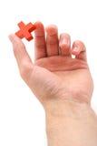перекрестный красный цвет руки Стоковые Изображения RF