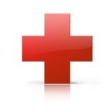 перекрестный красный цвет Стоковое Изображение