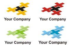 перекрестный логос элемента стоковое изображение rf