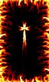 перекрестный пожар иллюстрация вектора