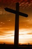 перекрестный святейший заход солнца Стоковое Изображение