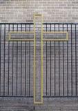 перекрестный символ металла Стоковая Фотография RF