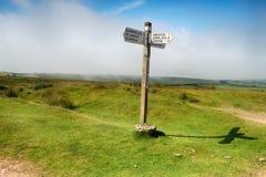 Перекрестный строб на Exmoor Стоковое Изображение