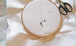 Перекрестный шить, начинает вверх стоковое изображение