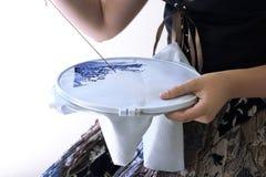 перекрестный шить девушки Стоковая Фотография