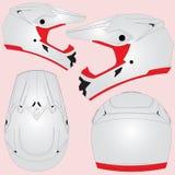 Перекрестный шлем мотоцикла Стоковые Изображения