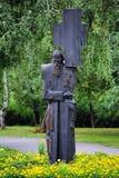 перекрестный dostoevsky памятник нося omsk к Стоковая Фотография RF