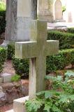 перекрестный gravestone старый Стоковое фото RF