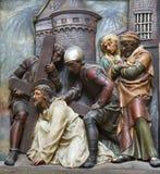 перекрестный jesus вниз Стоковая Фотография RF