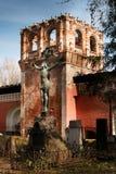 перекрестный jesus Некрополь монастыря Donskoy, Москвы, России Стоковая Фотография