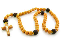 перекрестный rosary деревянный стоковое изображение rf