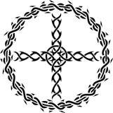 перекрестный tattoo иллюстрация штока