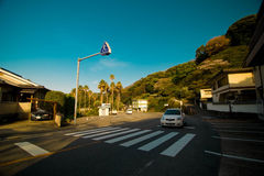 Перекресток в Японии стоковое фото