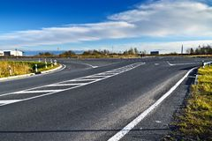 Перекресток на дороге Калининграде - Elblag. Россия Стоковая Фотография RF