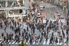 Перекресток hachiko Токио Стоковые Изображения RF