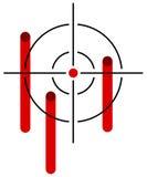 Перекрещение, цель иллюстрация вектора