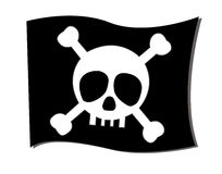 Перекрещенные кости флага Стоковые Фото