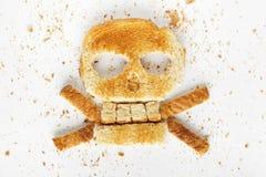 Перекрещенные кости хлеба Стоковое Фото