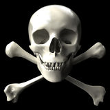 перекрещенные кости Стоковые Изображения RF
