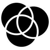 Перекрывать объезжает значок - контур 3 перекрывая, intersectin бесплатная иллюстрация