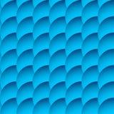 Перекрывая картина кругов безшовная, monochrome предпосылка Sha Стоковое Изображение RF