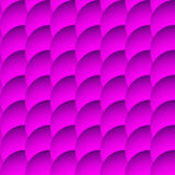 Перекрывая картина кругов безшовная, monochrome предпосылка Sha Стоковая Фотография
