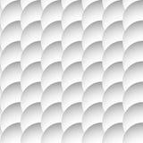 Перекрывая картина кругов безшовная, monochrome предпосылка Sha Стоковое Изображение